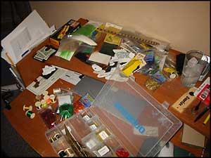 messy fly desk