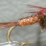 neon pheasant tail nymph fly pattern
