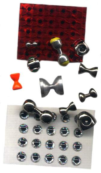 examples of eyes used in fly tying