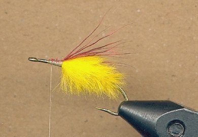 step 3 tying the flopper fly pattern