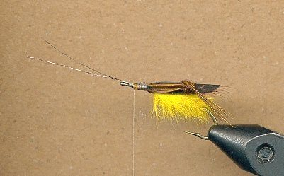 step five tying the flopper fly pattern