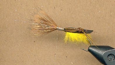 step 6 tying the flopper fly pattern