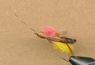 step eight tying the flopper fly pattern