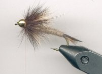 sixth step in tying rabid prince fly pattern