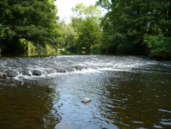 six mile water river weir